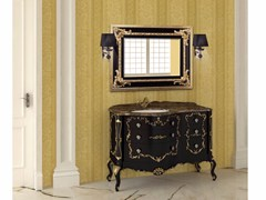- Lacquered vanity unit with drawers with mirror PANTHEON CM05PH - LA BUSSOLA