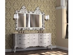 - Double vanity unit with drawers with mirror PANTHEON CM07PH - LA BUSSOLA