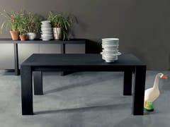 - Extending rectangular elm table PAPIRO | Wooden table - Fimar