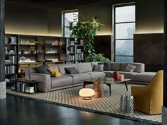 - Corner sectional fabric sofa PARIS-SEOUL | Corner sofa - Poliform