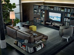 - Sectional leather sofa PARIS-SEOUL | Leather sofa - Poliform