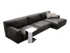 - Sectional leather sofa with chaise longue PARIS-SEOUL | Sofa with chaise longue - Poliform