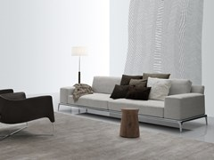 - Sectional fabric sofa with removable cover PARK | Fabric sofa - Poliform
