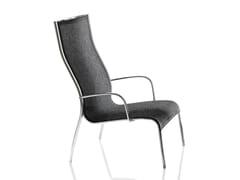 - High-back polyester fibre garden armchair PASO DOBLE | High-back armchair - Magis