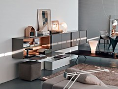 - Suspended wooden sideboard PASS-WORD | Suspended sideboard - MOLTENI & C.