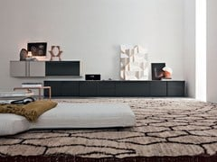- Sectional storage wall PASS-WORD | Wooden storage wall - MOLTENI & C.