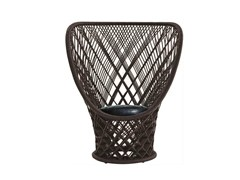 - Woven wicker armchair PAVO REAL - Driade