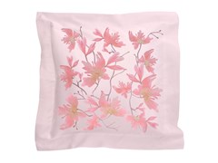 Cuscino in raso con motivi florealiPEACH BLOSSOM | Cuscino in raso - SANS TABÙ