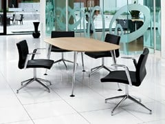 - Oval melamine meeting table PEGASUS | Oval meeting table - Boss Design