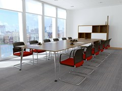 - Rectangular melamine meeting table PEGASUS | Rectangular meeting table - Boss Design