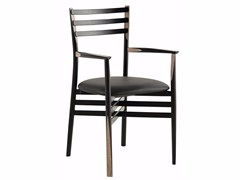 - Ash chair with armrests PENCIL | Chair with armrests - ROCHE BOBOIS