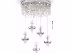 - Metal pendant lamp with Swarovski® Crystals ELEGANCE | Pendant lamp with Swarovski® Crystals - IDL EXPORT