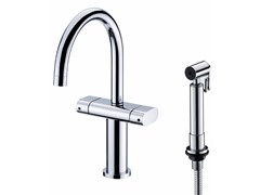 - Countertop chromed brass kitchen mixer tap with spray PERFECTO | Kitchen mixer tap with spray - JUSTIME