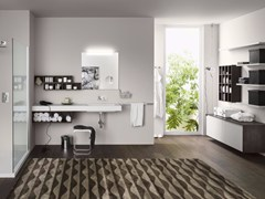 - Bathroom cabinet / vanity unit PERFETTO+ - Composition 2 - INDA®