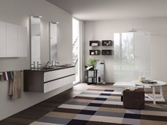 - Bathroom cabinet / vanity unit PERFETTO - Composition 3 - INDA®