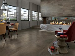 - Full-body porcelain stoneware wall/floor tiles PETITOT SÉPIA - NOVOCERAM