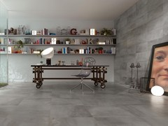 - Full-body porcelain stoneware wall/floor tiles PETITOT ZINC - NOVOCERAM