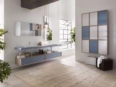 - Laminate bathroom cabinet / vanity unit PFS - Composizione 2 - INDA®