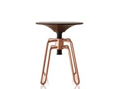 - Low height-adjustable copper stool PHILLIPS | Copper stool - Sollos
