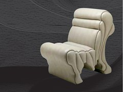 - Upholstered leather armchair PICCOLA LAVICA - MIRABILI