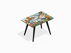- Rectangular beech wood and HPL coffee table PIGEONS L - Bazartherapy
