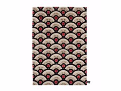 - Rectangular wool rug with geometric shapes PILGRIMAGE IN TOKIO - cc-tapis ®