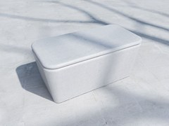 - Backless fiber-reinforced concrete Bench PILLOW | Fiber-reinforced concrete Bench - SIT
