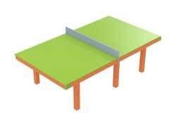 Tavolo per spazi pubblici rettangolarePING PONG - STILEURBANO