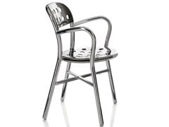 - Stackable garden chair with armrests PIPE | Chair with armrests - Magis