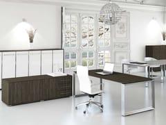- Rectangular MDF office desk PITAGORA P20/P22 - Arcadia Componibili - Gruppo Penta