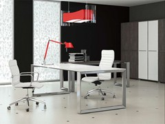 - Rectangular crystal office desk PITAGORA PV20/PV22 - Arcadia Componibili - Gruppo Penta