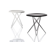 - Low square powder coated steel coffee table PIZZA TABLE | Low coffee table - Magis