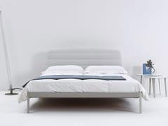 - Steel double bed with upholstered headboard PLANE | Double bed - iCarraro italian makers