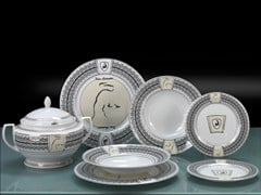 - Set di piatti in porcellana CIRCUIT | Set di piatti - Tonino Lamborghini Casa by Formitalia Group