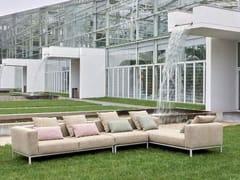Divano outdoor in tessuto sfoderabile telaio in alluminioPLATFORM | Divano da giardino - WOW ITALY