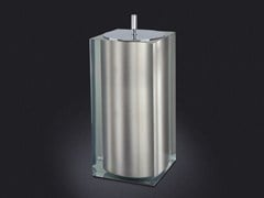 - Resin bathroom waste bin PLATINUM GLOSS SMALL | Bathroom waste bin - Vallvé Bathroom Boutique