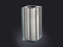 - Resin bathroom waste bin PLATINUM GLOSS SMALL | Resin bathroom waste bin - Vallvé Bathroom Boutique