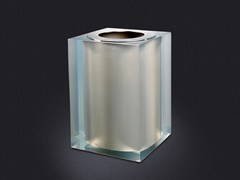 - Resin bathroom waste bin PLATINUM GLOSS | Bathroom waste bin - Vallvé Bathroom Boutique