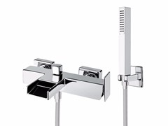 - Wall-mounted bathtub mixer with hand shower PLAYONE 85 - 8533362 - Fir Italia