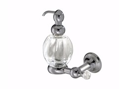 - Wall-mounted glass liquid soap dispenser PLEIADI | Wall-mounted liquid soap dispenser - LINEAG