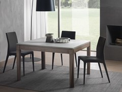 - Extending square table PLURIMO | Cimento® table - Pacini & Cappellini