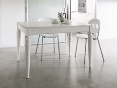 - Extending lacquered wood veneer table PLURIMO | Rectangular table - Pacini & Cappellini