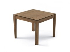 - Extending square living room table PLURIMO | Wood veneer table - Pacini & Cappellini