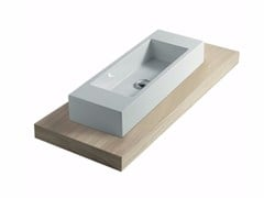 - Wooden washbasin countertop PLUS DESIGN 128 | Washbasin countertop - GALASSIA