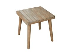 - Tavolino da giardino di servizio in teak per contract POB 23145 - SKYLINE design