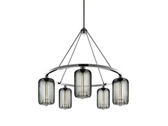 - LED blown glass chandelier POD | Chandelier - Niche Modern