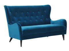 - Tufted 2 seater high-back velvet sofa POLA | Velvet sofa - SITS