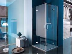 - Corner rectangular shower cabin with hinged door POLARIS DESIGN | Rectangular shower cabin - Samo