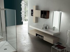 - Bathroom cabinet / vanity unit POLLOCK - COMPOSITION 28 - Arcom