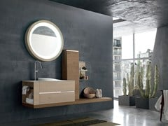 - Bathroom cabinet / vanity unit POLLOCK YAPO - COMPOSITION 41 - Arcom